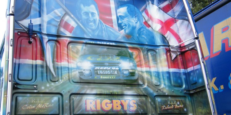 Airbrushed Lorry