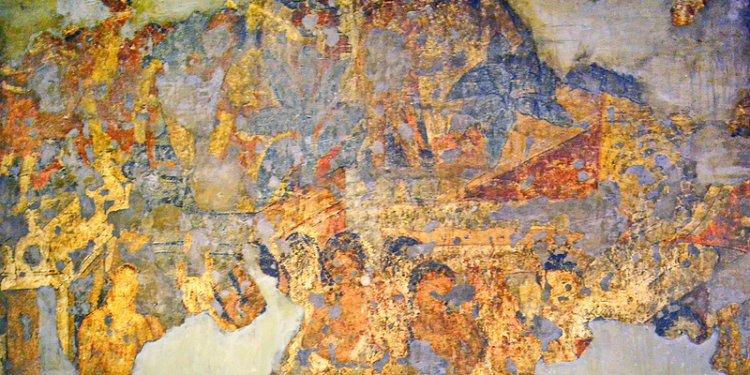 India - Maharashtra - Ajanta Caves - Cave 16 - Mural - 24