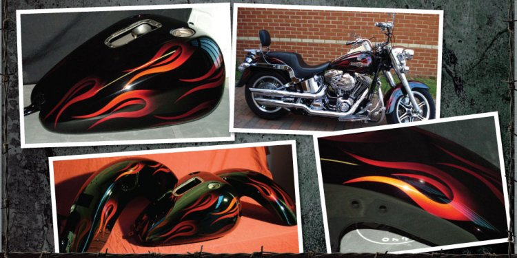 Paint Supremacy. Harley Red