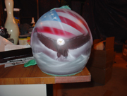 airbrushed eagle on bike helmet
